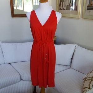 NEW Summer Red Knit DRESS L